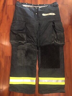 Firefighter Janesville Lion Apparel Turnout Bunker Pants 42x32 08 Black Costume