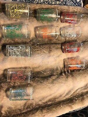 1962-1964 Flintstones Juice Glasses
