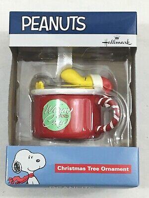 New Hallmark Peanuts Woodstock Warm And Cozy Christmas Tree Ornament