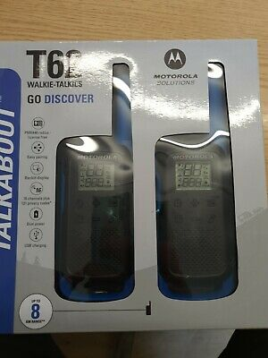 Motorola Walkie Talkie T62 TLKR Two Way Radio Licence Free PMR446 - TWIN PACK