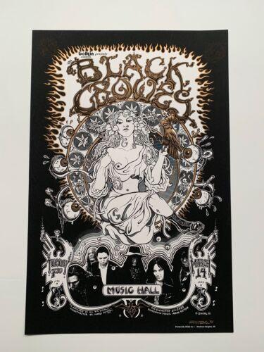 Signed Emek Black Crowes Original Rock Concert Poster
