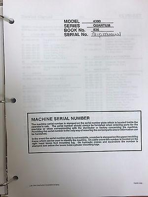 Link Belt 4300 Quantum Hydraulic Excavator Service Shop Repair Workshop Manual