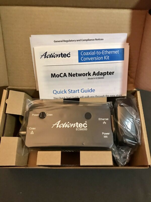 Actiontec ECB6000 MoCA Network Adapter Coaxial-to-Ethernet Conversion Kit