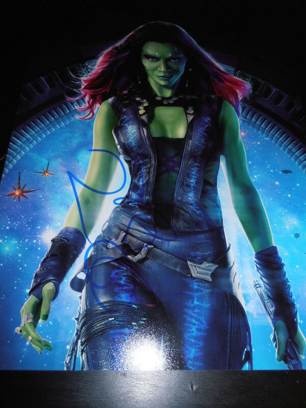 ZOE SALDANA SIGNED AUTOGRAPH 8x10 PHOTO GUARDIANS OF THE GALAXY 2 MARVEL COA F