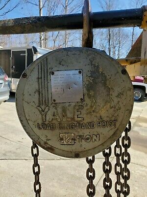 Industrial Load King Yale 112 Ton Gear Chain Hoist Preowned