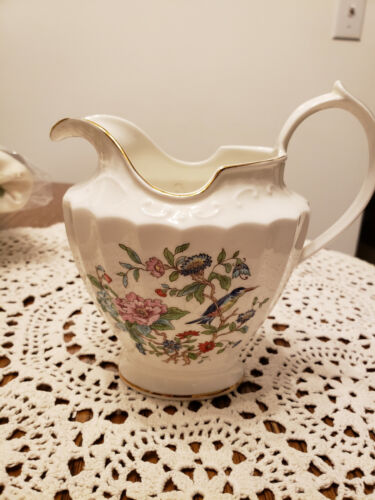 Aynsley Pembroke Floral Pitcher  Made in England