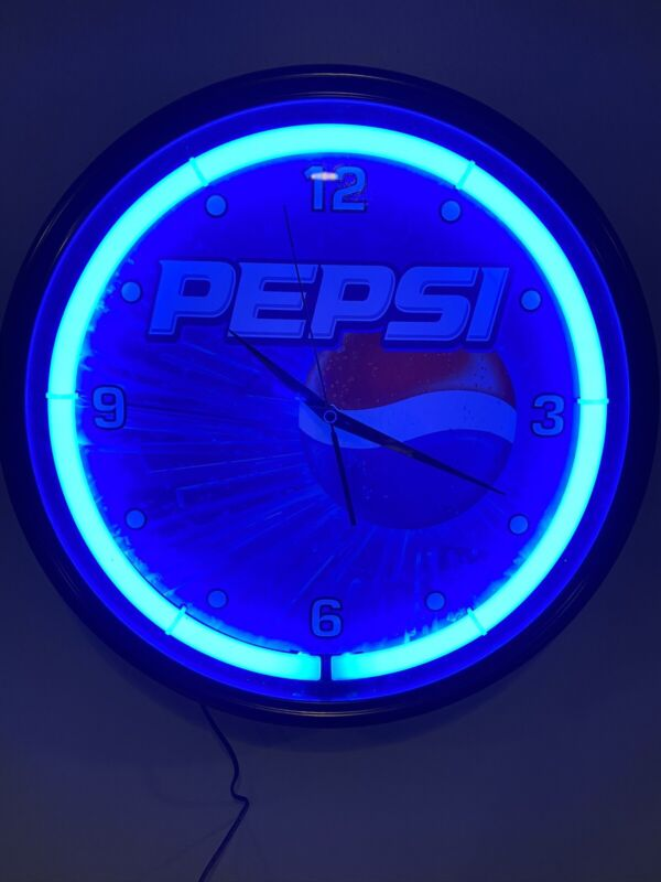 "Pepsi Neon Clock 16""-Brand New In Box"