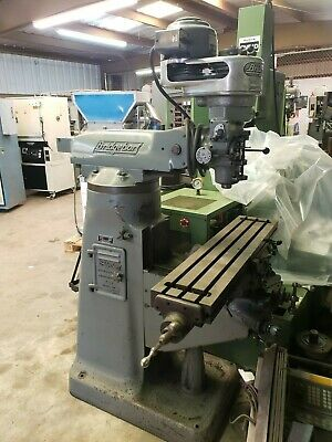 Bridgeport Step Head Vertical Mill With Servo Power Feed 9 X 42 Table Solid