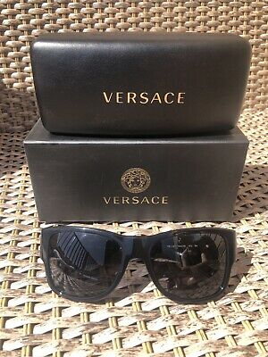 Versace Black Sunglasses Medusa Signature Logo