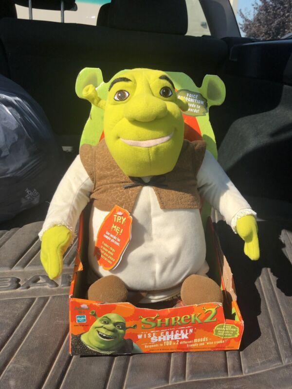 Shrek Collectible Shrek 2 Wise Crackin Plush Talking Figure Works Great!