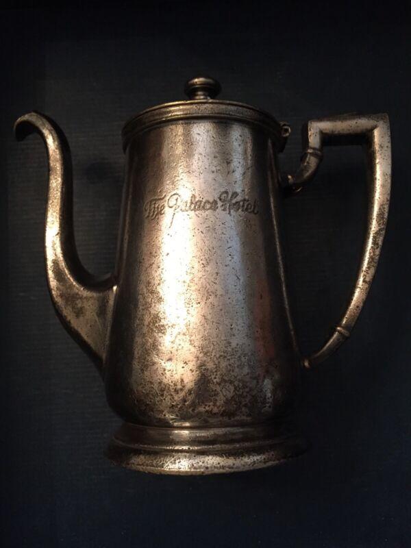 The Palace Hotel SAN FRANCISCO International Silver Company 32 oz Coffee Tea Pot