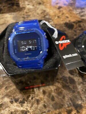 Casio G-Shock DW-5600SB-2 Digital Skeleton Series Blue Resin Men's Watch NEW NWT