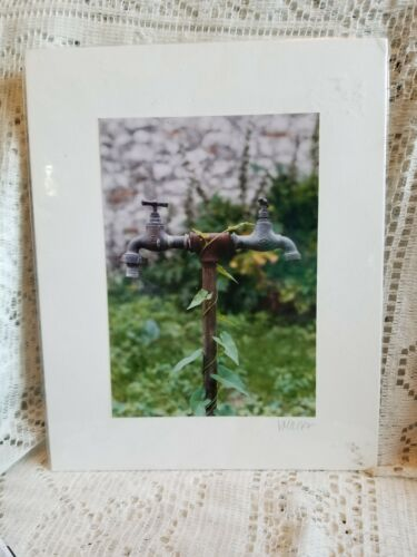 Sealed in Plastic Fun Photograph of an Old Water Spicket Signed V Mann