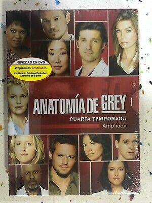 ANATOMIA DE GREY 4ª TEMPORADA 4 DVD NUEVO AMPLIADA ESPAÑOL INGLES ITALIANO...