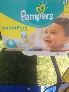 52 size 4 Pampers Diapers