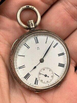 Antique Omega Pocket Watch Sterling Ladies Hunter No Reserve!!