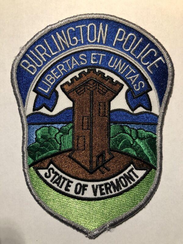 Burlington Vermont Police Patch ~ New Condition