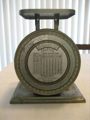 Vintage Pelouze Speed Mail Metal Postal Scale - 10 Lb Model M-10-1