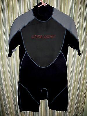 Stearns 2mm Neoprene Wetsuit Surf Wet Suit Men's LARGE. BLACKS GRAY RED ez zip