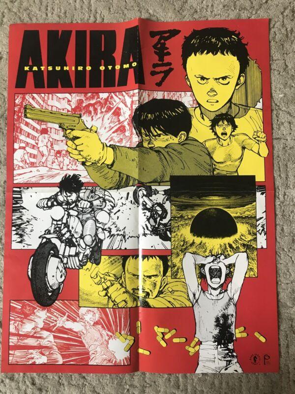 """Rare Akira Poster - Katsuhiro Otomo - 2001 Dark Horse - 22"""" X """"17 - Two Sided"""
