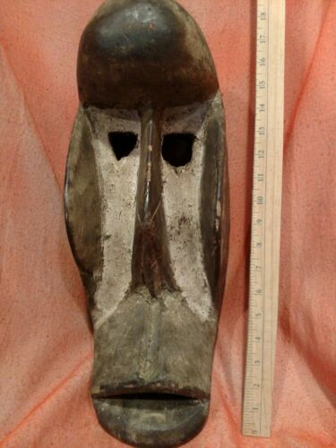 Big Mblo Ceremonial Mask with Bold Features — Authentic Carved African Wood Art