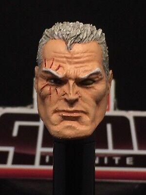 MARVEL LEGENDS PAINTED/FITTED TOYBIZ R.S. CABLE 1:12 HEAD CAST FOR 6 IN FIGURE