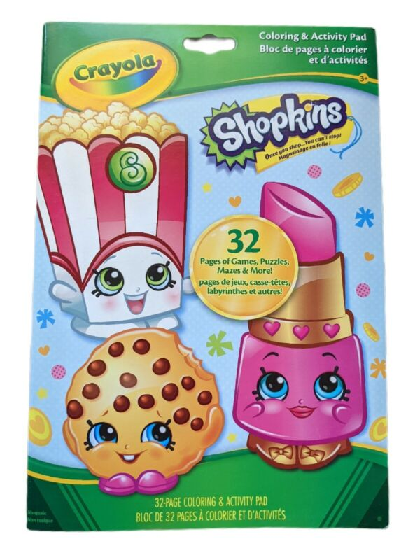 Shopkins Coloring And Activity Book 32 Page