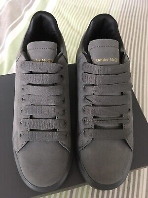 BNIB Limited Edition Alexander mcqueen Style Trainers Grey Suede Size 5