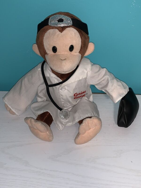 """Applause CURIOUS GEORGE as Doctor Monkey Plush Doll 12"""""""