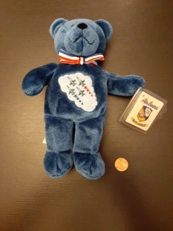 NWT The BLUE ANGELS Air Bear Plush Beanie Bear