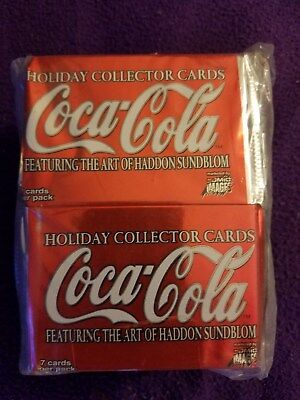 COCA-COLA   HOLIDAY COLLECTORS CARDS POLY BAG WITH  36 SEALED PACKS MINT