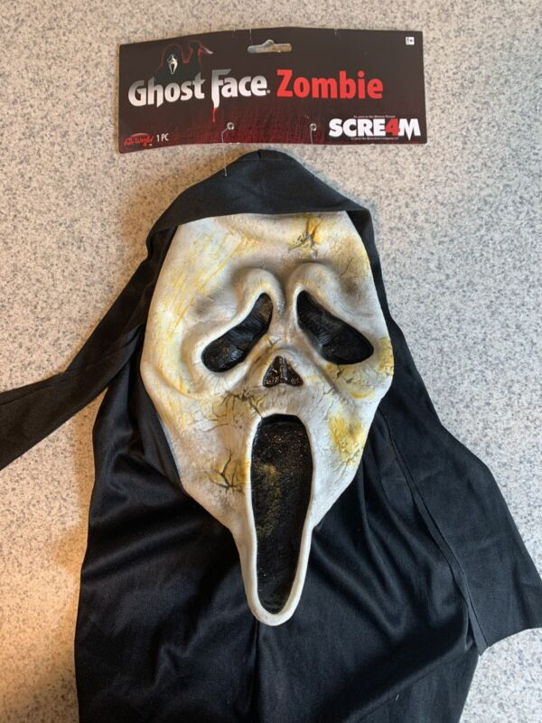 Scream 2 3 4 Zombie Mask 2010 Fun World Ghost Face Ghostface Easter Unlimited
