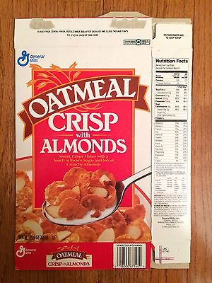 "1995 Vintage General Mills ""OATMEAL CRISP WITH ALMONDS"" Cereal Box, RARE!"