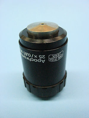 Carl Zeiss Jena 25x Apochromat M25 Microscope Objective..jenamed