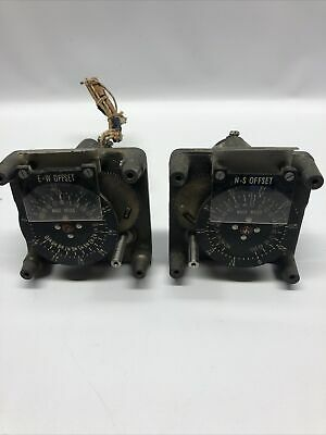 2 Vintage Steampunk Electrical Nautical Miles Offsets George W. Borg 1920s