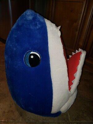 Baby Head Costume (Dan Dee Baby Shark Head Big Greeter Head Blue Mask  Costume Cosplay)