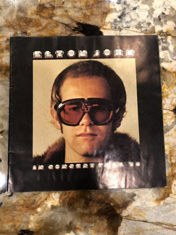 Original October 1975 Elton John Concert Program Los Angeles DODGER STADIUM