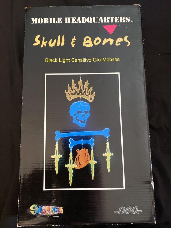 Skull & Bones Black Light Sensitive Glo-Mobile Vintage