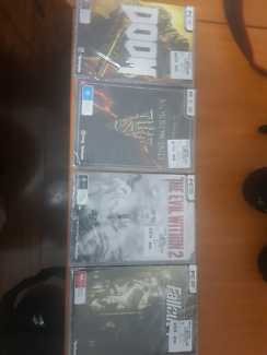 PC Games - fallout 4, elder scrolls online, the evil within.