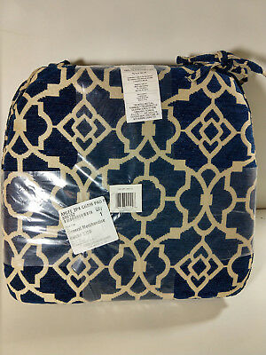 "NEW Arlee Home Fashions Two Pack Chair Pad- 17"" x 15"" Blue"