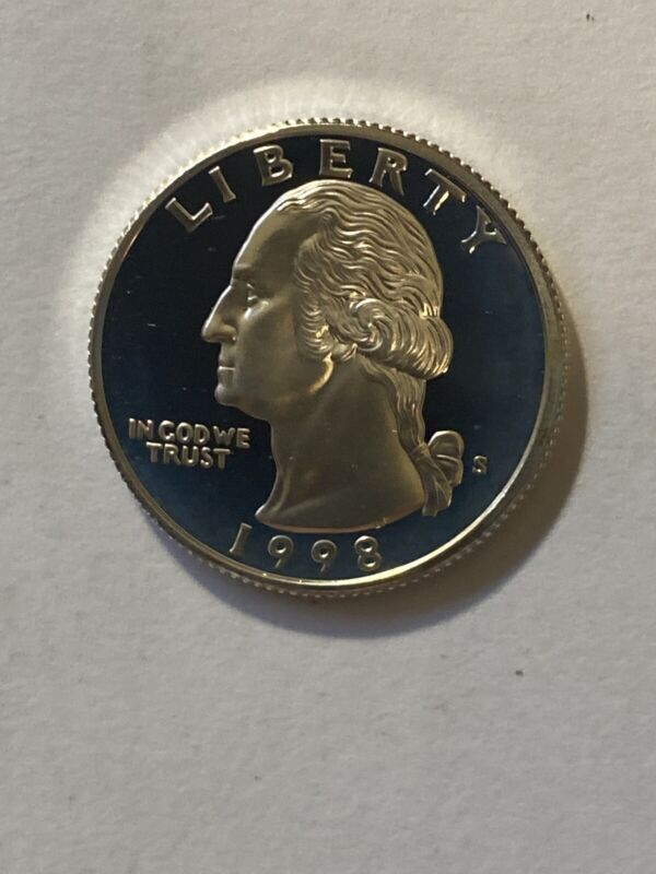 1998-S Washington Quarter DCAM Silver Proof BEAUTIFUL COIN