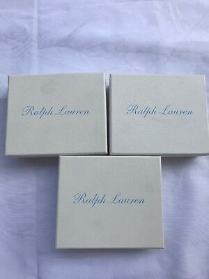 Polo Ralph Lauren White Baby Blue Gift Box 3 Small Gift Boxes