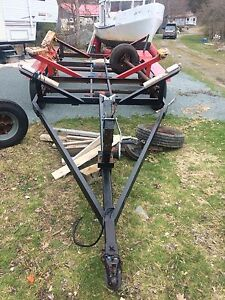 Tri axel wide boat/flatbed trailer
