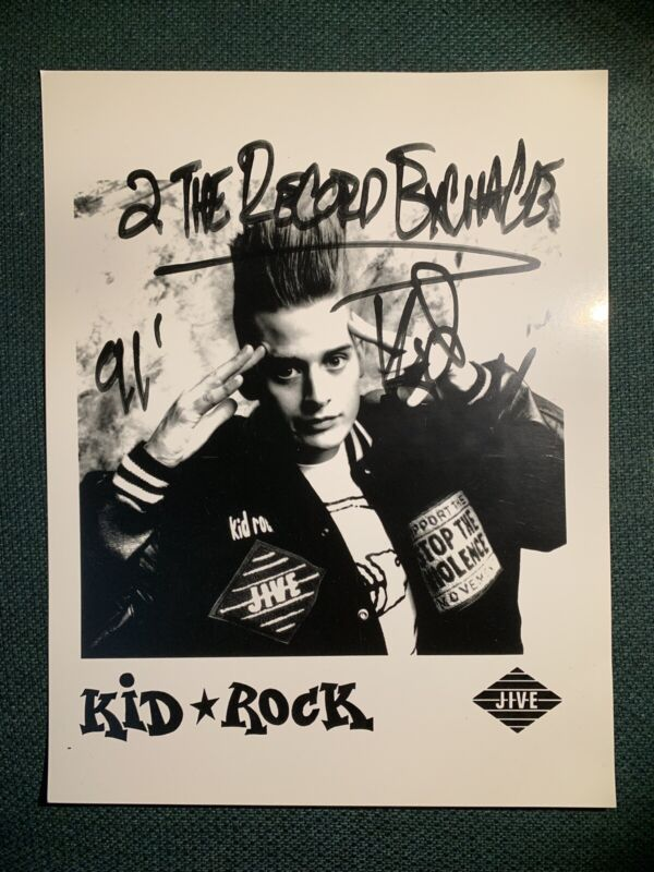 Kid Rock Signed Poster 1991, VERY RARE