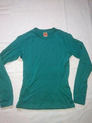 Icebreaker 100% Merino Wool Bodyfit 200 Shirt Teal Women Size Small