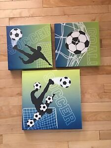 Soccer Canvas Pictures, throw and ball
