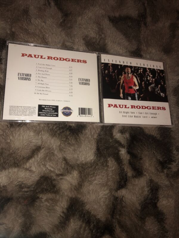 Paul Rodgers -Extended versions(used New CD, 2006)Bad Company/Free Singer