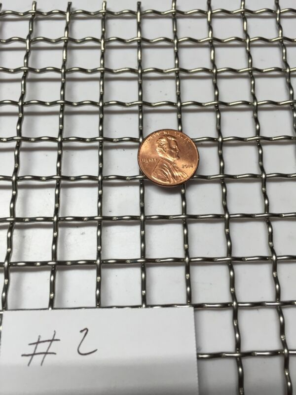 """Stainless Steel Crimped 304 Mesh #2 .063  Cloth Screen 5""""x15"""""""