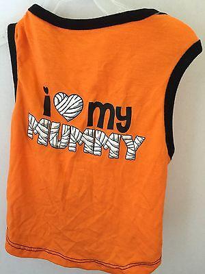 I Spirit Halloween (New Wt Pet Spirit Orange W Black Trim Halloween I Love My Mummy