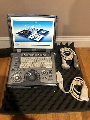 Ge Logiq E Portable Ultrasound Machine System With 4c-rs And 8l-rs